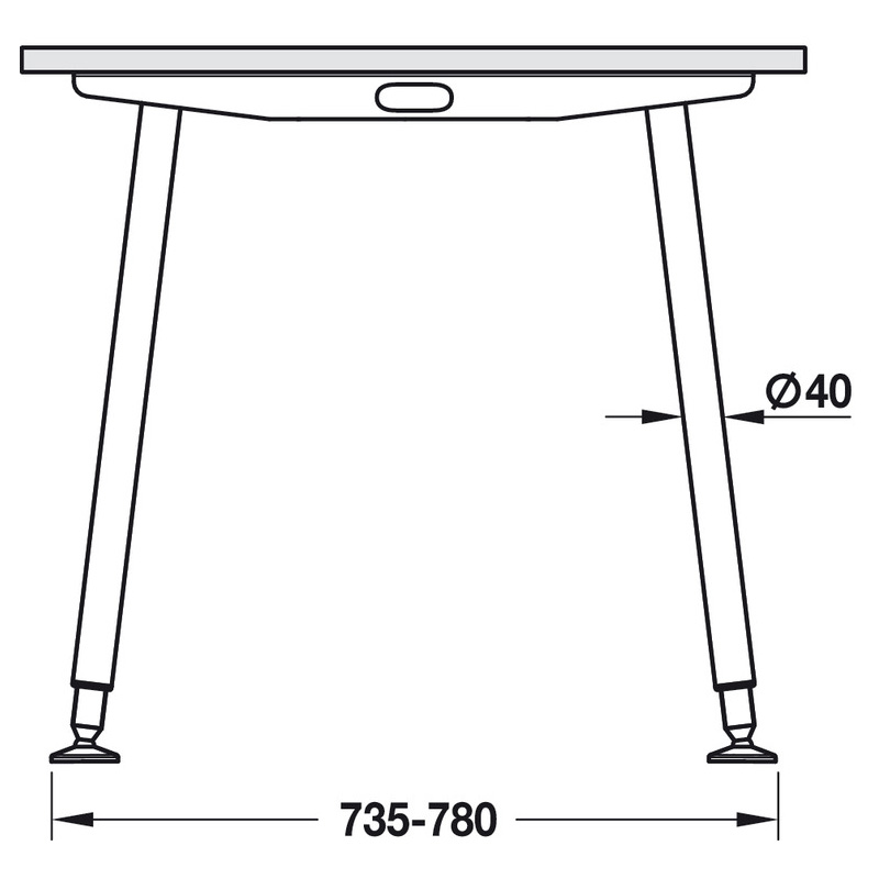 Tischgestell Idea A Abmessungen